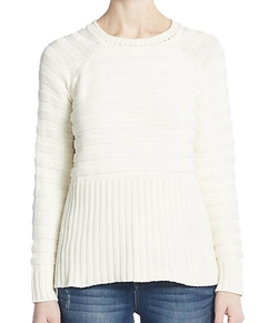Knitz By For Love & Lemons - Natalie Ribbed Knit Silk & Cotton Sweater