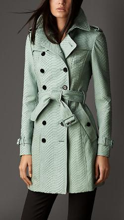 Burberry - Mid-length Python Trench Coat