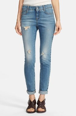 Stella McCartney - Distressed Skinny Ankle Jeans