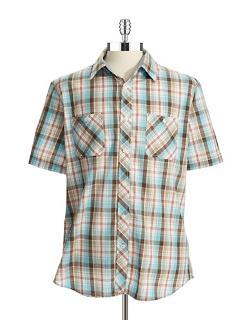 Weatherproof Vintage  - Plaid Woven Sport Shirt