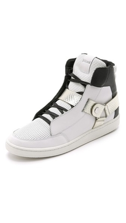 Just Cavalli - Viper Metallic High Top Sneakers