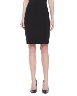 Halston Heritage - Crepe Pencil Skirt