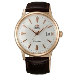 Orient - Gold Tone Leather Strap Mechanical Watch