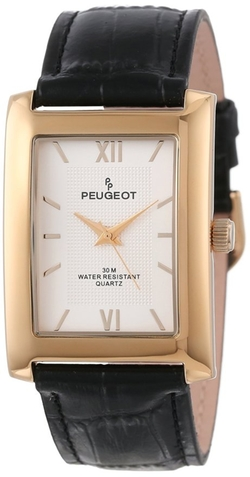 Peugeot - Rectangular Watch With Embossed Inner Dial