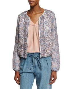 Joie - Jodi Floral-Print Silk Bomber Jacket