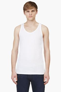 BALMAIN  - QUILTED PANEL TANK TOP