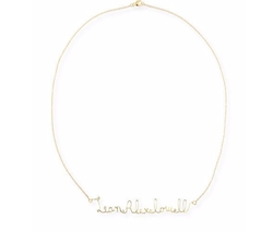 Jennifer Creel - Personalized Script Wire Name Necklace