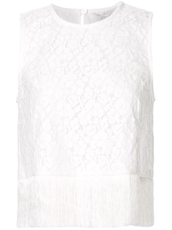 Derek Lam 10 Crosby   - Fringed Lace Top