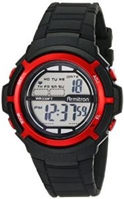 Armitron Sport - Unisex Digital Black Resin Strap Watch