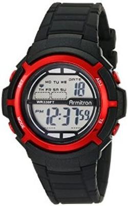 Armitron Sport - Unisex Digital Black Resin Strap Watch