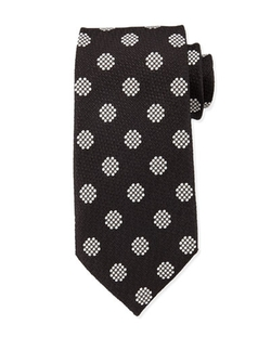 Tom Ford	  - Textured Large-Dot Woven Tie