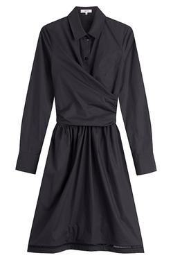Carven - Cotton Poplin Wrap Dress