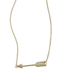 SKU Jewelry CZ  - Arrow Pendant Necklace