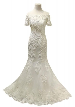 George Bride - All-Over Lace Applique Gown