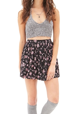 Forever21 - Floral Lace Mini Skirt