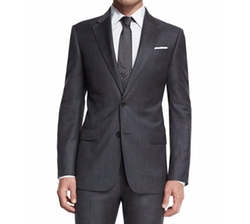Armani Collezioni - Sharkskin Two-Piece Wool Suit