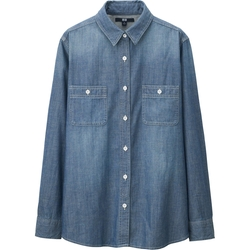 Uniqlo - Chambray Long Sleeve Long Shirt