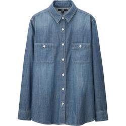 Uniqlo - Chambray Long Sleeve Long Shirt