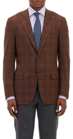 Isaia - Plaid Two-Button Sportcoat