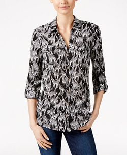 Charter Club - Giraffe-Print Shirt