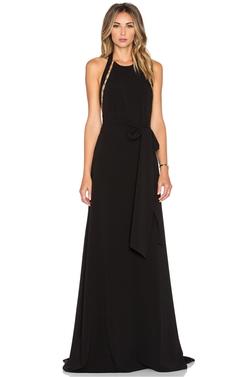 Halston Heritage - Sleeveless High Neck Gown
