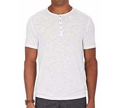 John Varvatos Star U.S.A.  - Cotton-Blend Henley Shirt