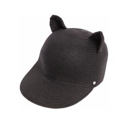 Karl Lagerfeld - Choupette Ears Woven Paper Baseball Hat