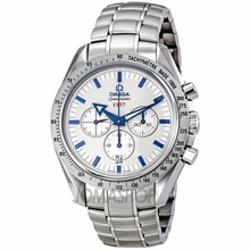 Omega  - Speedmaster Broad Arrow Silver Dial Chronograph Mens