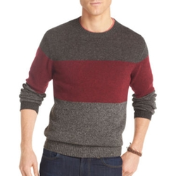 Izod - Tri-Striped Crewneck Sweater