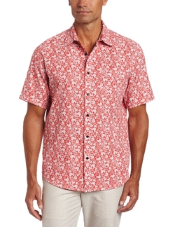 Cubavera  - Short Sleeve Printed Cotton Shirt