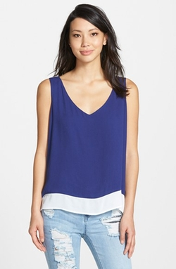 Bobeau - Colorblock High/Low Tank