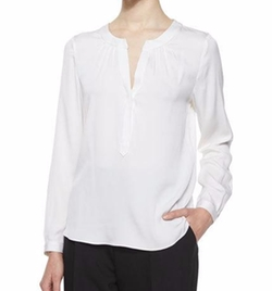 Milly - Tessa Long-Sleeve Silk Blouse