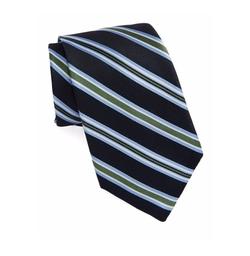 Black Brown 1826 - Striped Silk Tie