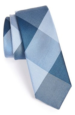 The Tie Bar  - Bison Silk Plaid Tie