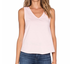 Bobi - Cashmere Terry Strappy V-Neck Tank Top
