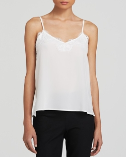 Dylan Gray  - Lace Trim Silk Cami Top