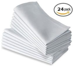 Egyptian Towels - Elegant White Dinner Napkins