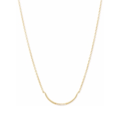 Kenneth Cole New York  - Curved Diamond Accent Bar Collar Necklace