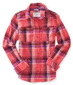 Aeropostale - Womens Signature Plaid Button Up Shirt