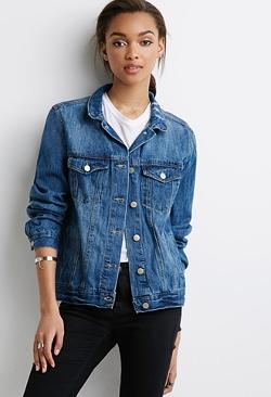 Forever 21 - Distressed Denim Jacket