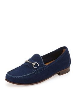 Gucci	  - Suede Horsebit Slip-On Loafer
