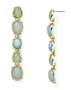 Aqua - Sam Linear Drop Earrings