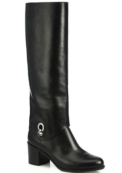 Fendi - Fold-Over Leather Knee Boots