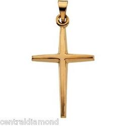 Central Diamond Center - Gold Cross Pendant