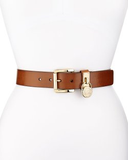 Michael Michael Kors	 - Logo-Charm Leather Belt