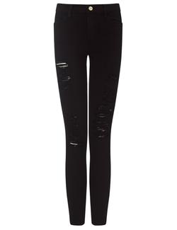 Frame Denim - Noir Le Color Ripped Jeans