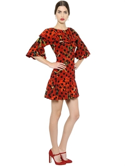 Dolce & Gabbana - Dot Printed Cady Dress