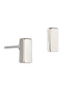 Anne Klein - Silvertone Bar Stud Earrings