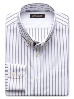 Banana Republic - Tailored Slim-Fit Non-Iron Bold Stripe Shirt