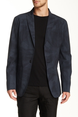 John Varvatos - Wool Blend Peak Lapel Blazer